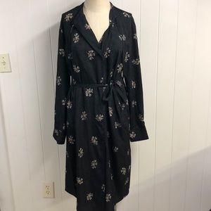 Vince Polyester Floral Faux Wrap Dress